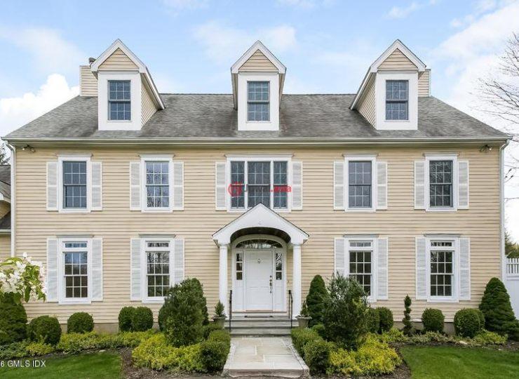 美国康涅狄格格林威治4卧6卫的别墅二手多少购买房产税费图片