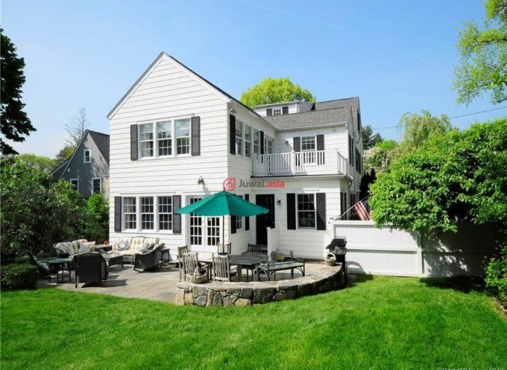 美国康涅狄格格林威治5卧5卫的小院头碳化别墅木门房产图片